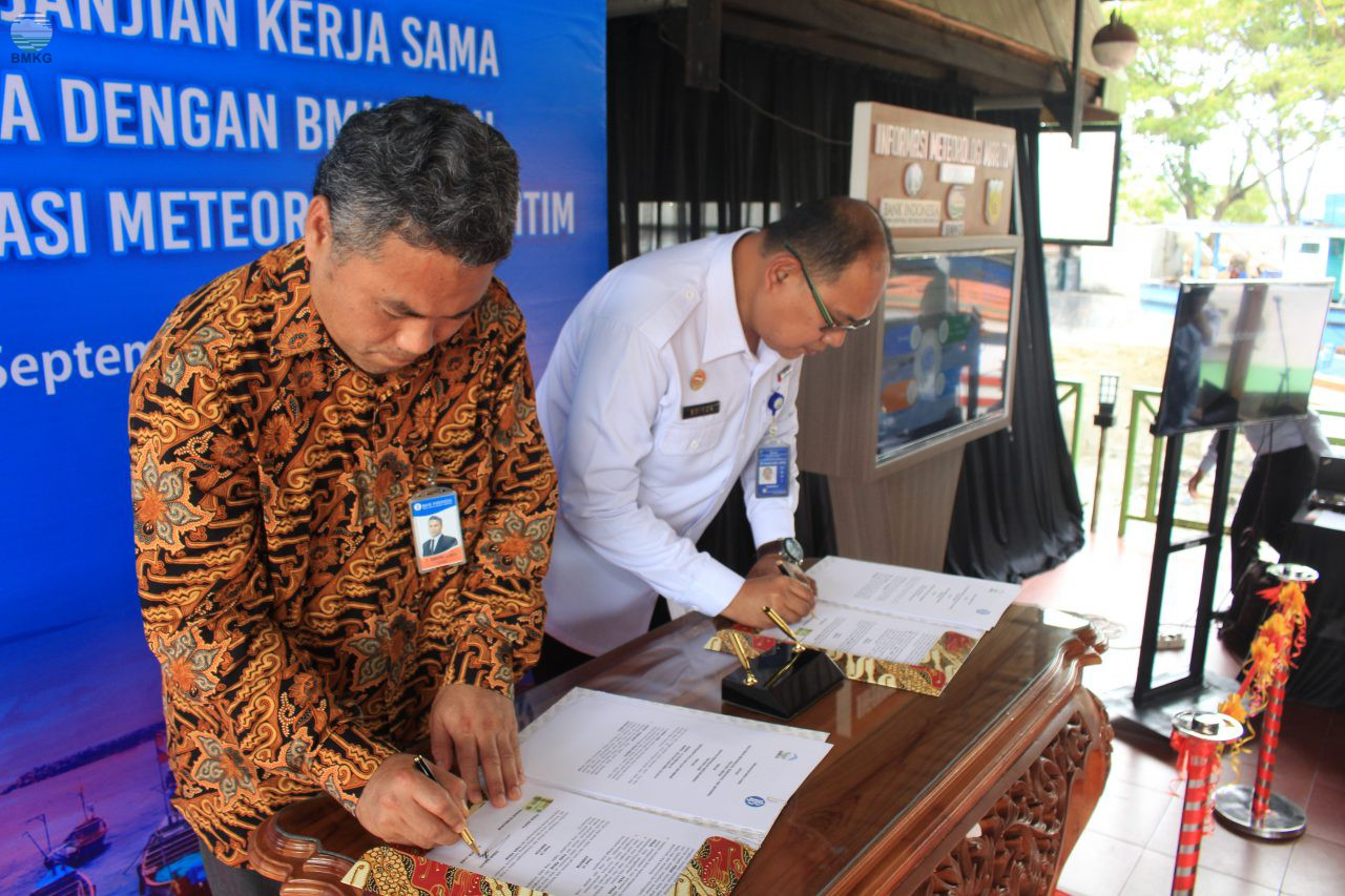 Penandatanganan Kerja Sama Staklim Aceh Besar dengan Perwakilan Bank Indonesia Provinsi Aceh