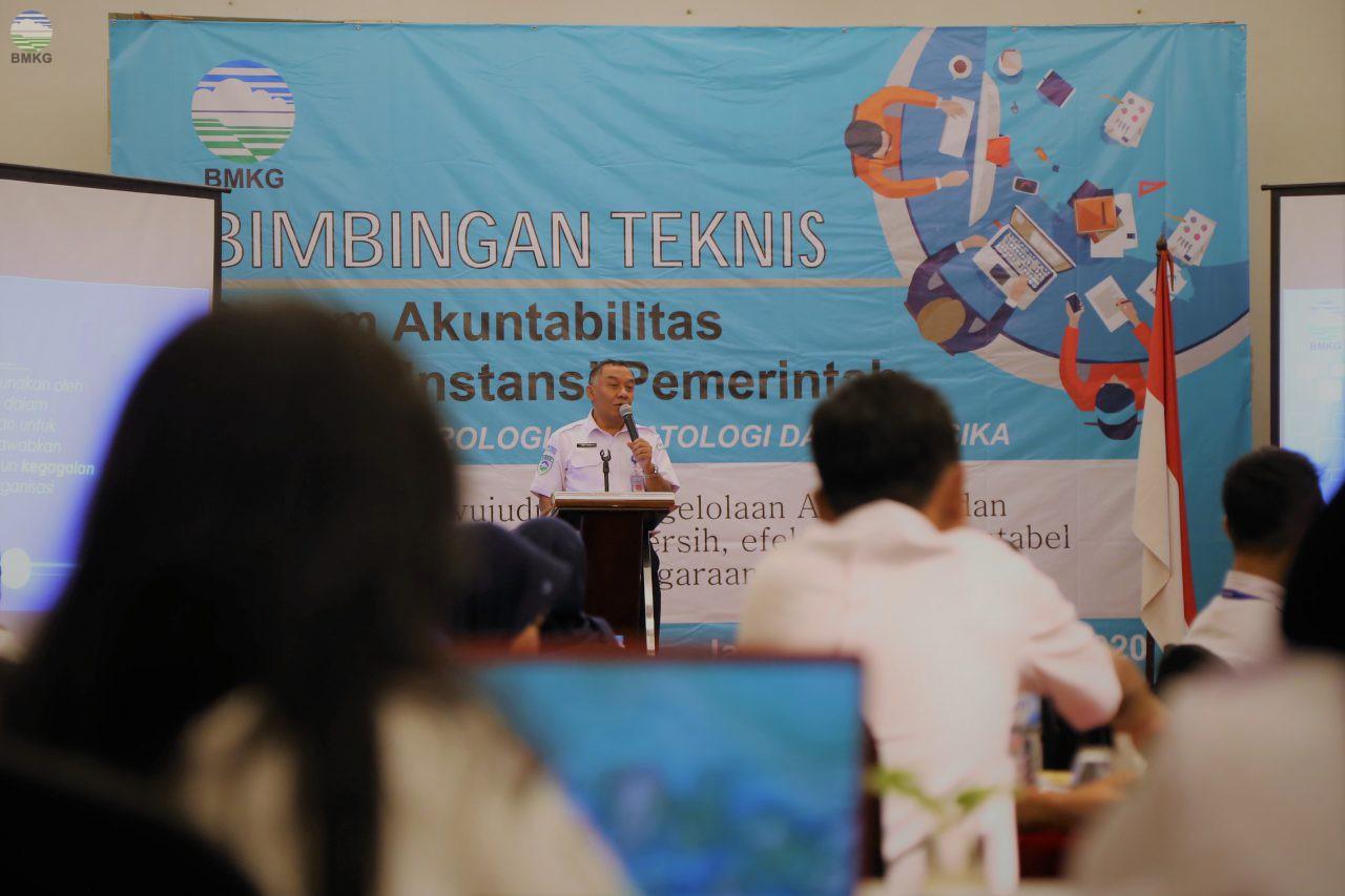 Sekretaris Utama BMKG Buka Bimtek SAKIP 2020