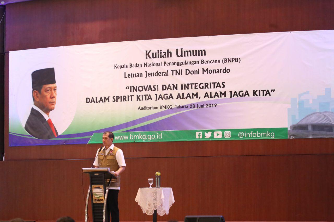 Kuliah Umum di BMKG, Kepala BNPB Ajak Jaga Alam