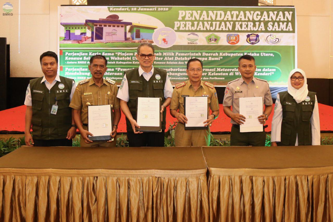 BMKG Perluas Kerjasama Dengan Tiga Kabupaten di Sulawesi Tenggara