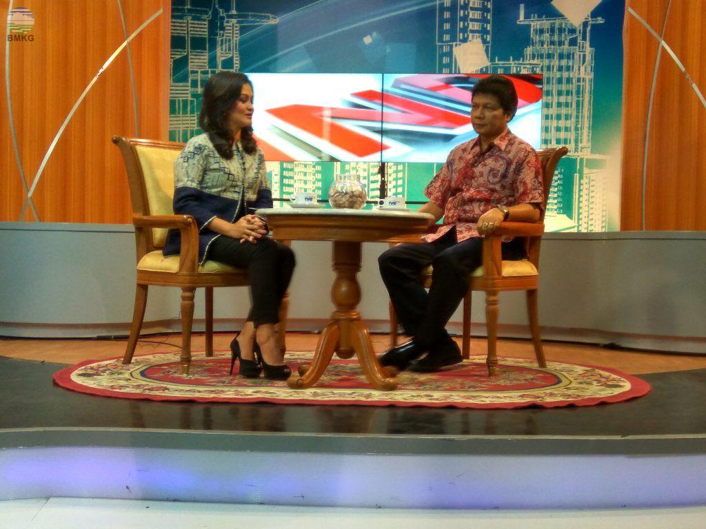 TVRI Wawancara Live dengan Deputi Bidang Meteorologi BMKG