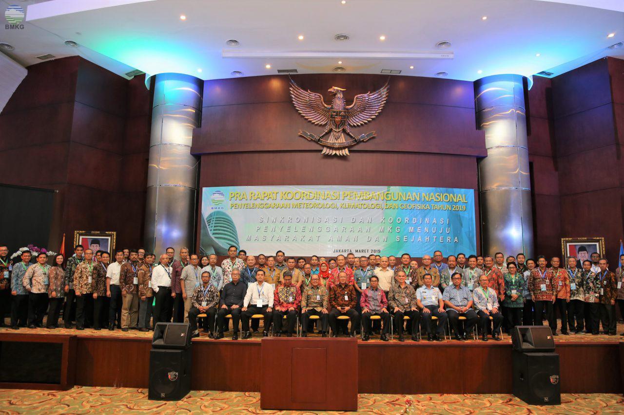 Pra Rakorbangnas BMKG, Upaya Meningkatkan Sinkronisasi dan Koordinasi Penyelenggaraan MKG di Indonesia