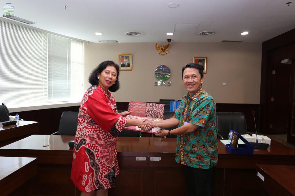 Delegasi Bank Indonesia Pelajari Sistem Diseminasi Informasi MKG BMKG