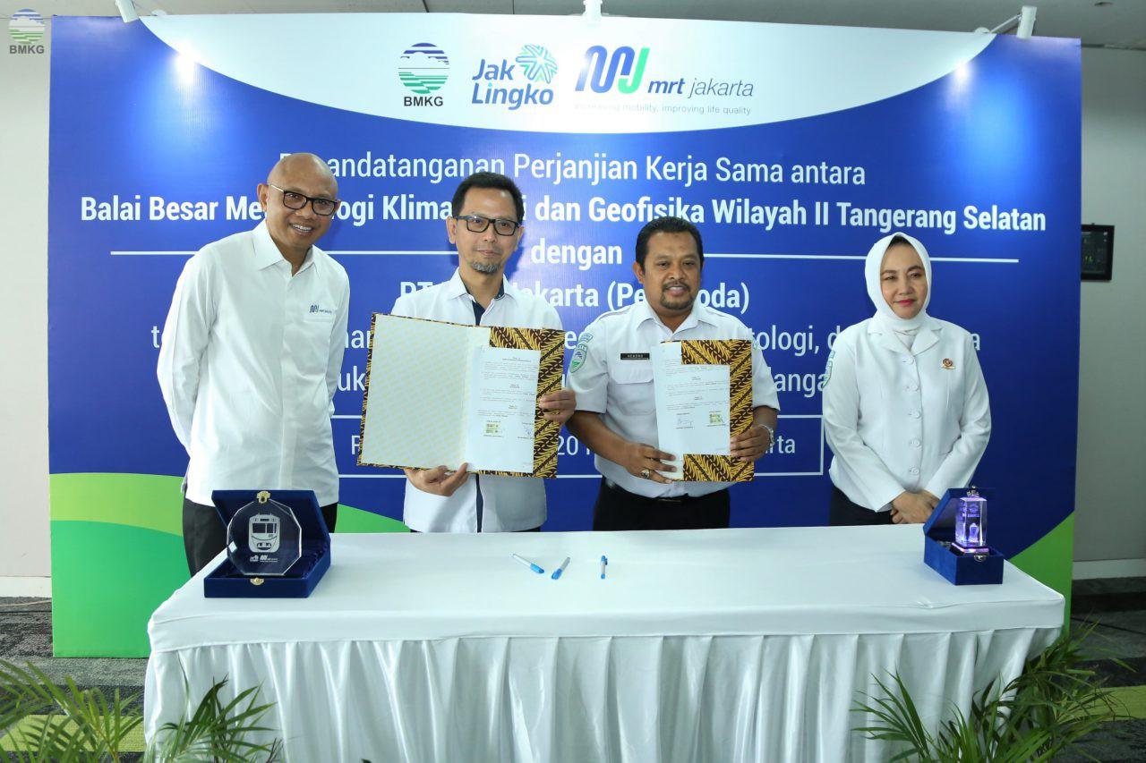 Dukung Keselamatan Operasional MRT, BMKG-PT MRT Jakarta Jalin Kerja Sama