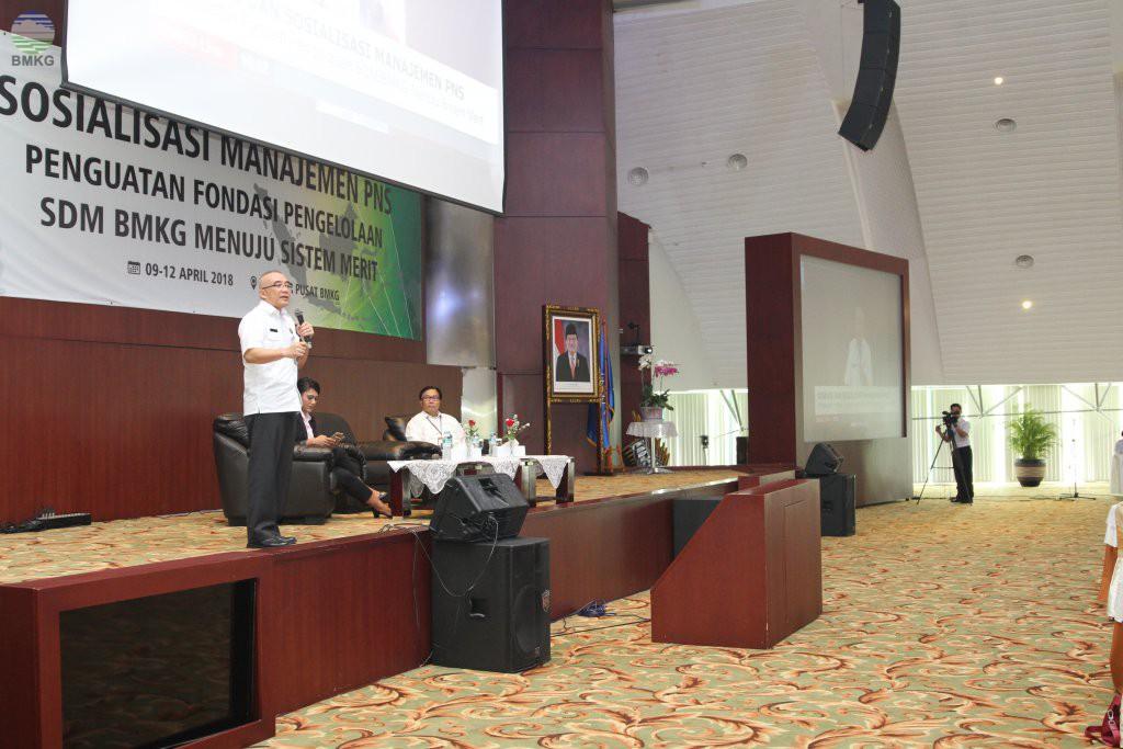 Sosialisasi Manajemen ASN Melalui Penguatan Fondasi Pengelolaan SDM BMKG Menuju Sistem Merit