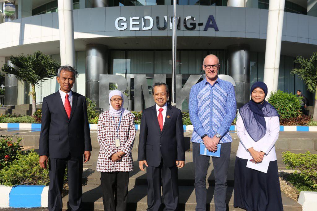 Pertemuan Deputi Bidang Geofisika BMKG dengan UN OCHA