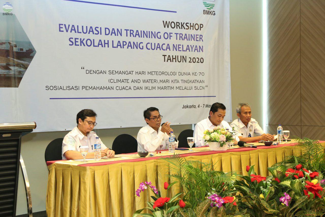 Pusat Meteorologi Maritim Gelar Workshop Monitoring & Evaluasi Sekolah Lapang Cuaca Nelayan (SLCN) 2020