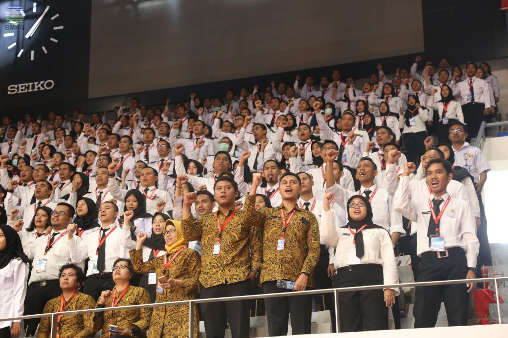 5165 CPNS Ikuti Presidential Lecture Oleh Jokowi