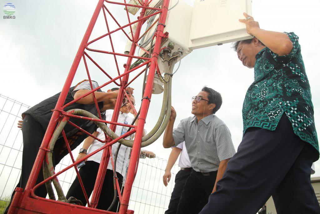 Kunjungan Kerja Deputi Bidang Inskalrekjarkom BMKG Ketiga Kota di Jawa Timur