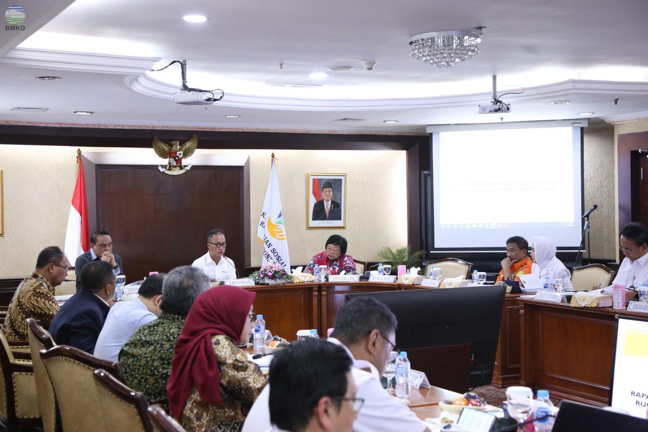 Rapat Koordinasi Tingkat Menteri Pembahasan DIM RUU Penanggulangan Bencana