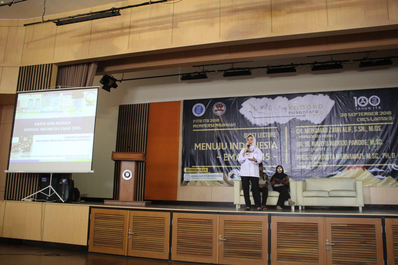 Prof. Dwikorita Menjadi Narasumber di Guest Lecture ITB