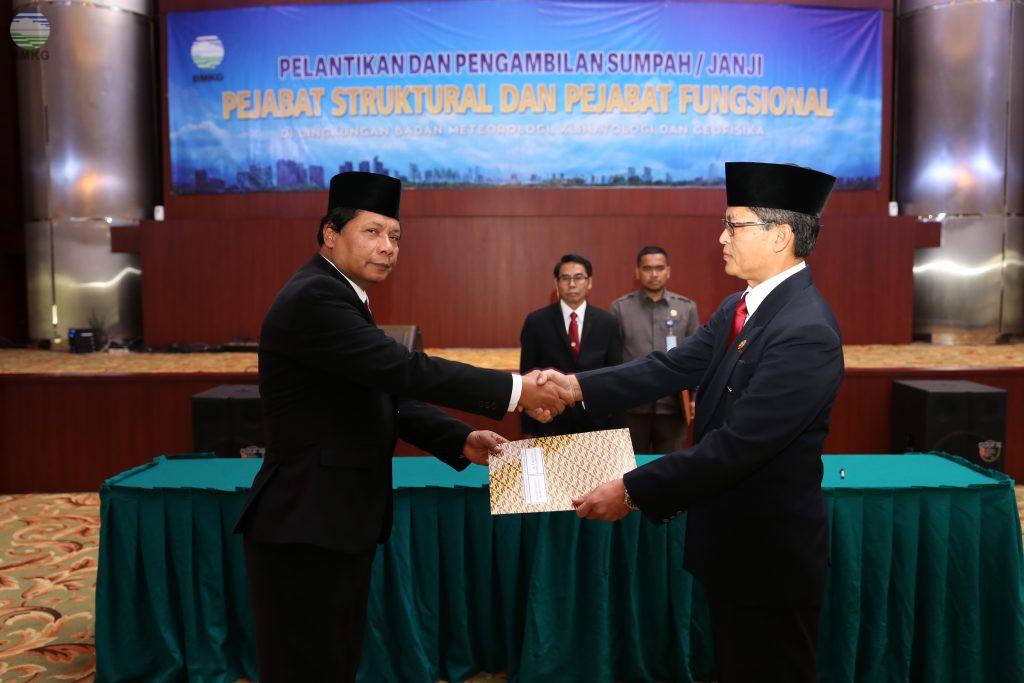 Pelantikan Pejabat Tinggi Madya Dan Fungsional BMKG