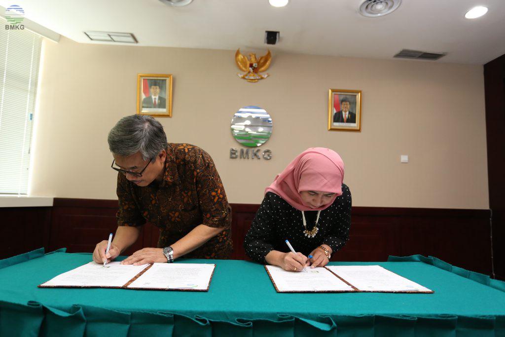 Penandatanganan Nota Memorandum Saling Pengertian  Antara BMKG-HAGI