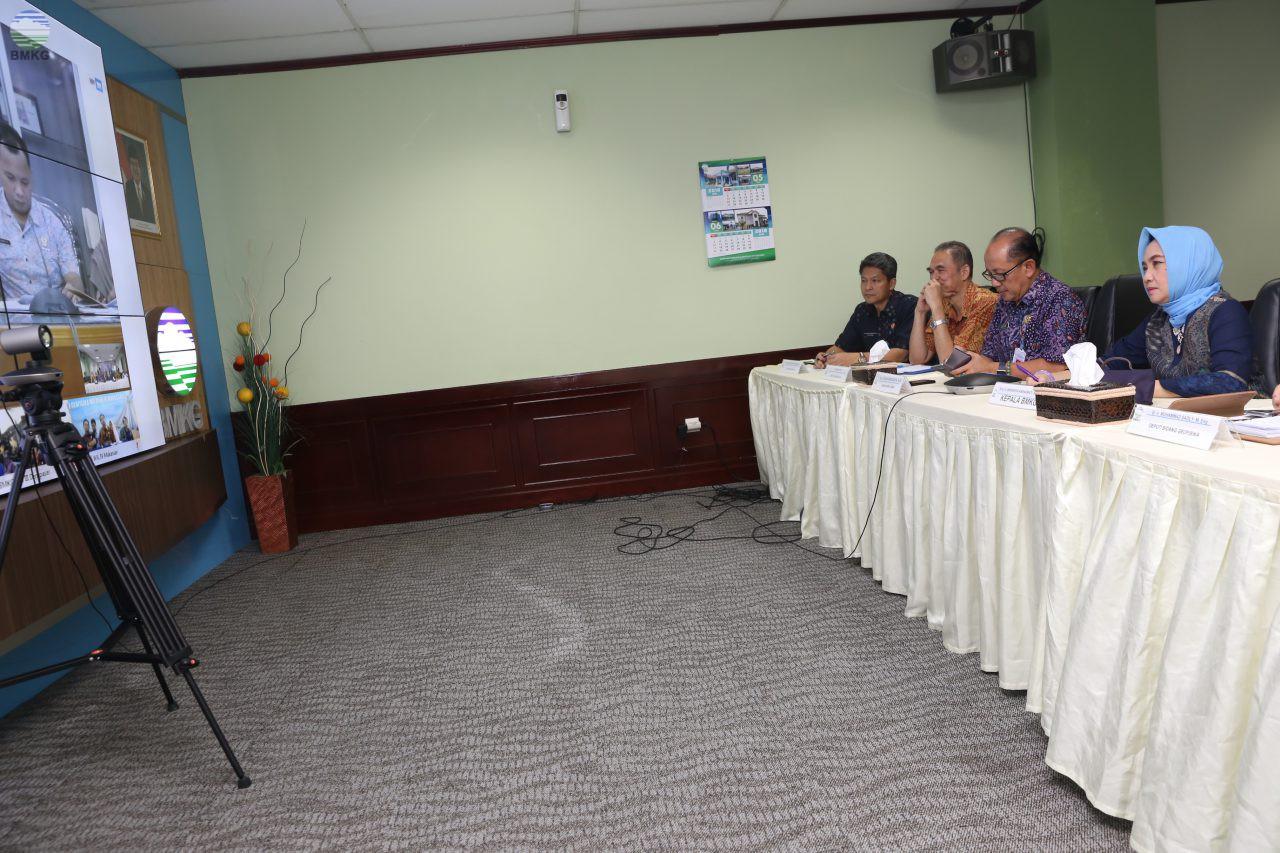 Video Conference Kepala BMKG dengan Para Kepala Balai Besar MKG dalam Kesiapan Pelaksanaan Angkutan Lebaran Tahun 2018