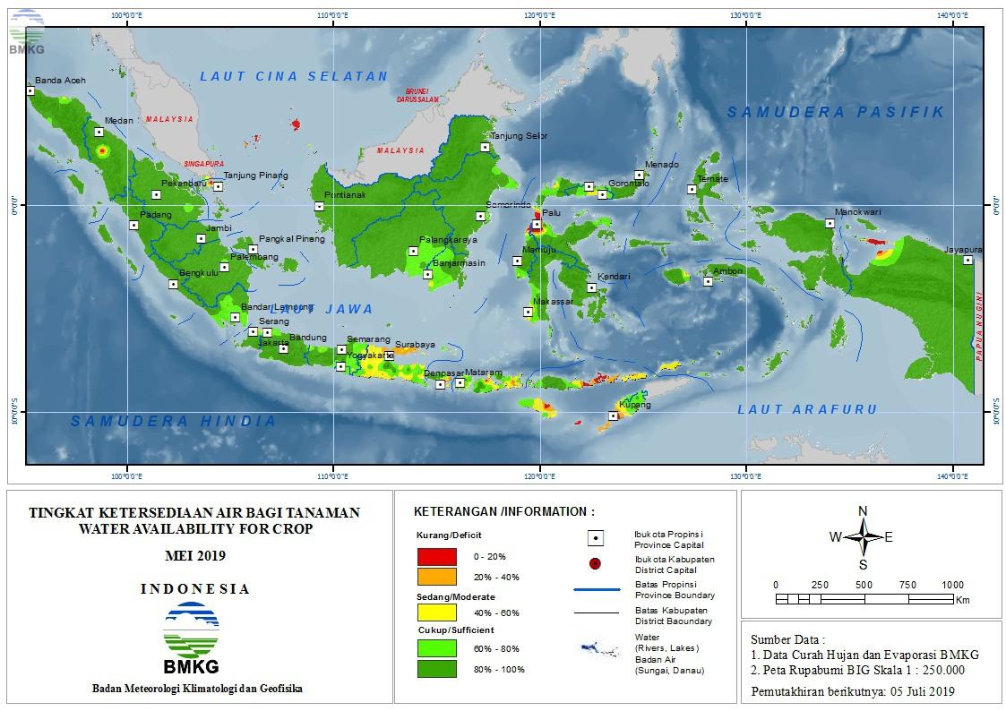 Tingkat Ketersediaan Air Bagi Tanaman - Mei 2019