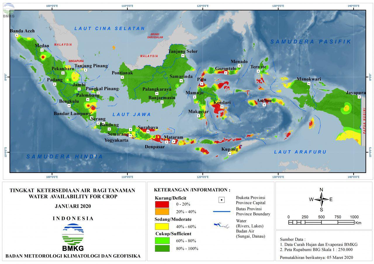 Tingkat Ketersediaan Air Bagi Tanaman - Januari 2020
