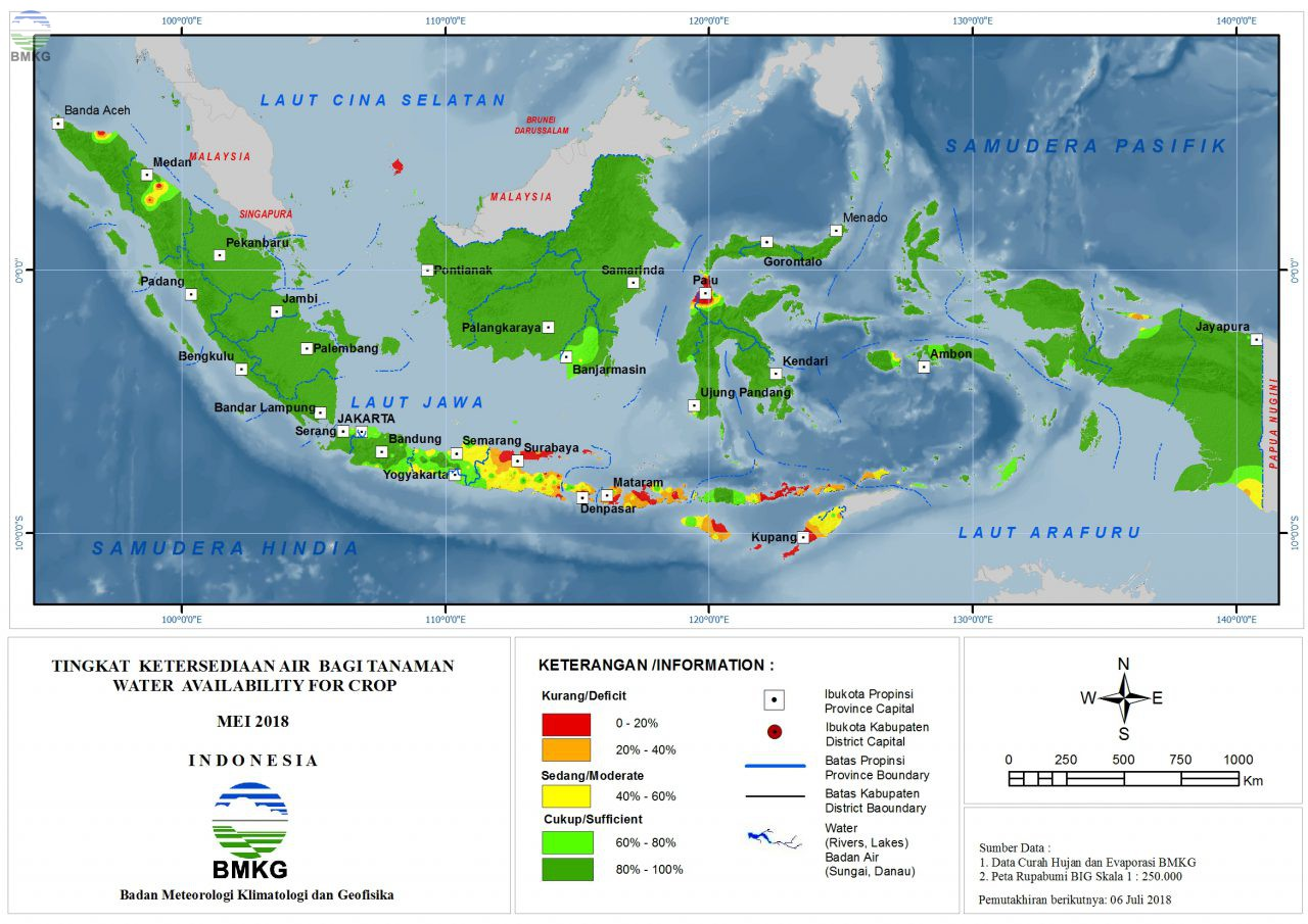 Ketersediaan Air Tanah di Indonesia Mei 2018