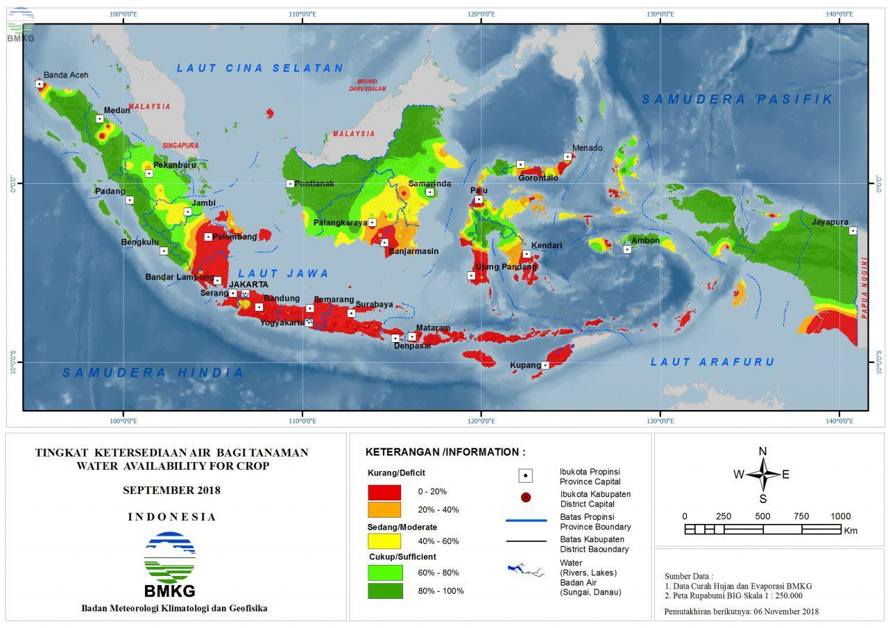 Tingkat Ketersediaan Air Bagi Tanaman - Setember 2018