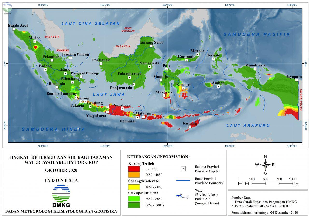 Tingkat Ketersediaan Air Bagi Tanaman - Oktober 2020
