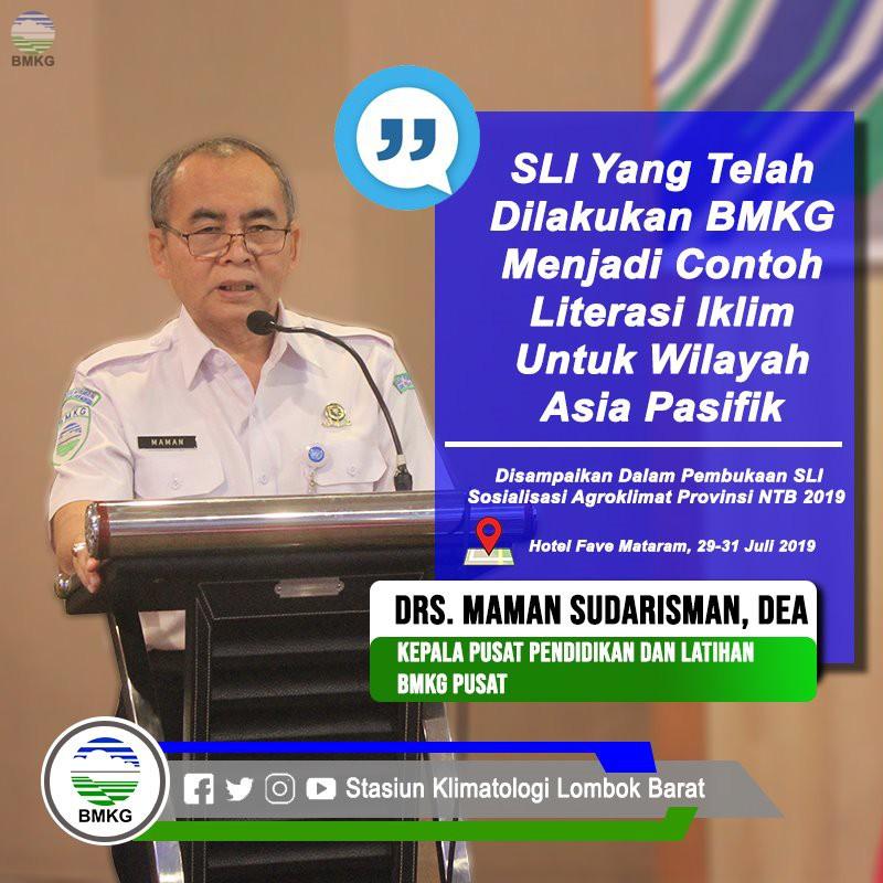 SLI Sosialisasi Agroklimat Provinsi NTB Tahun 2019