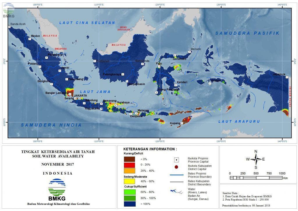 Ketersediaan Air Tanah di Indonesia November 2017
