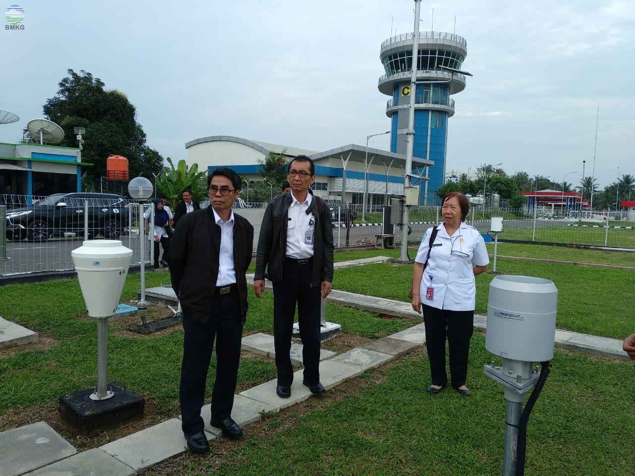 Kunjungan Kerja Sekretaris Utama BMKG ke Stasiun Meteorologi Depati Parbo Kerinci
