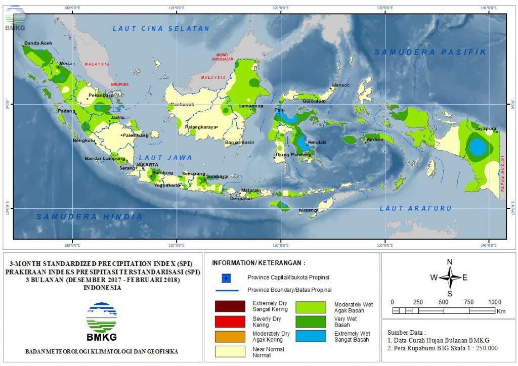 The Standardized Precipitation Index (SPI) September - November 2017