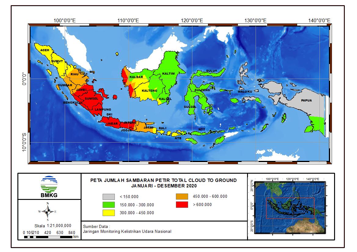 Peta Sambaran Petir Tahun 2020