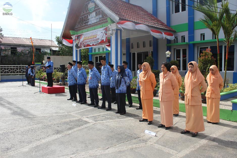Peringatan Hari Kemerdekaan RI ke-74 di BMKG Sumatera Barat