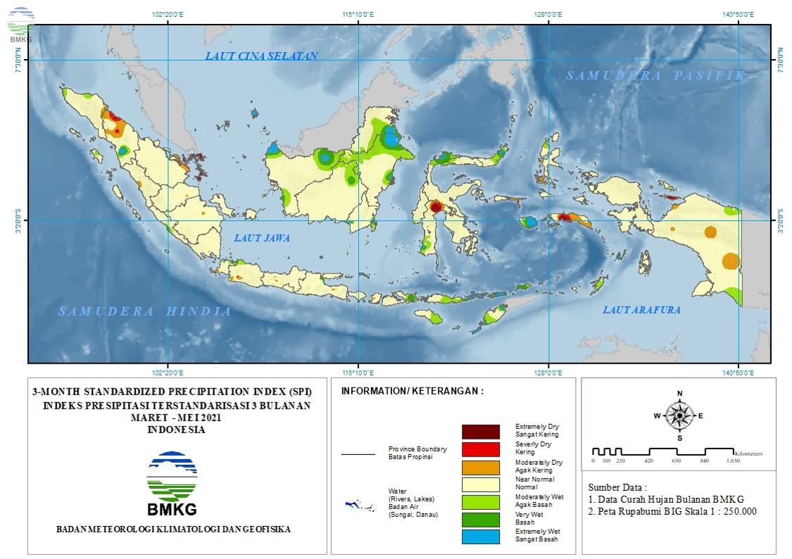 The Standardized Precipitation Index Juni 2021