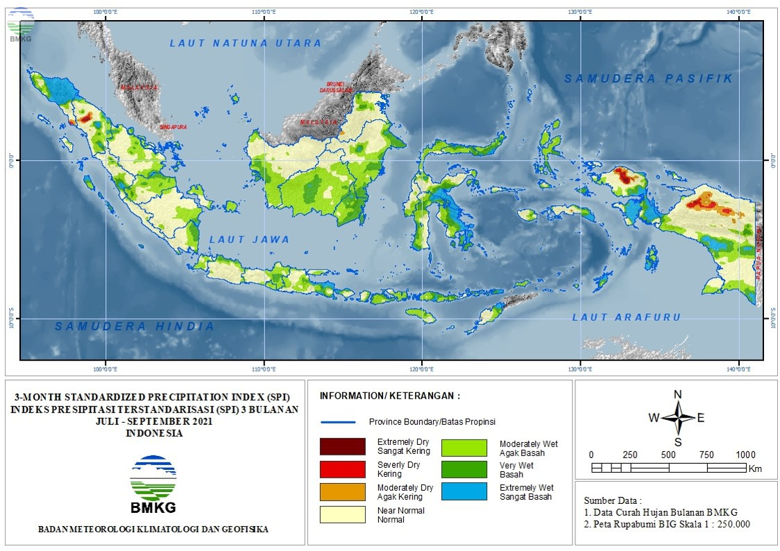 The Standardized Precipitation Index Oktober 2021