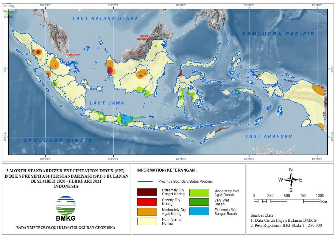 The Standardized Precipitation Index Maret 2021