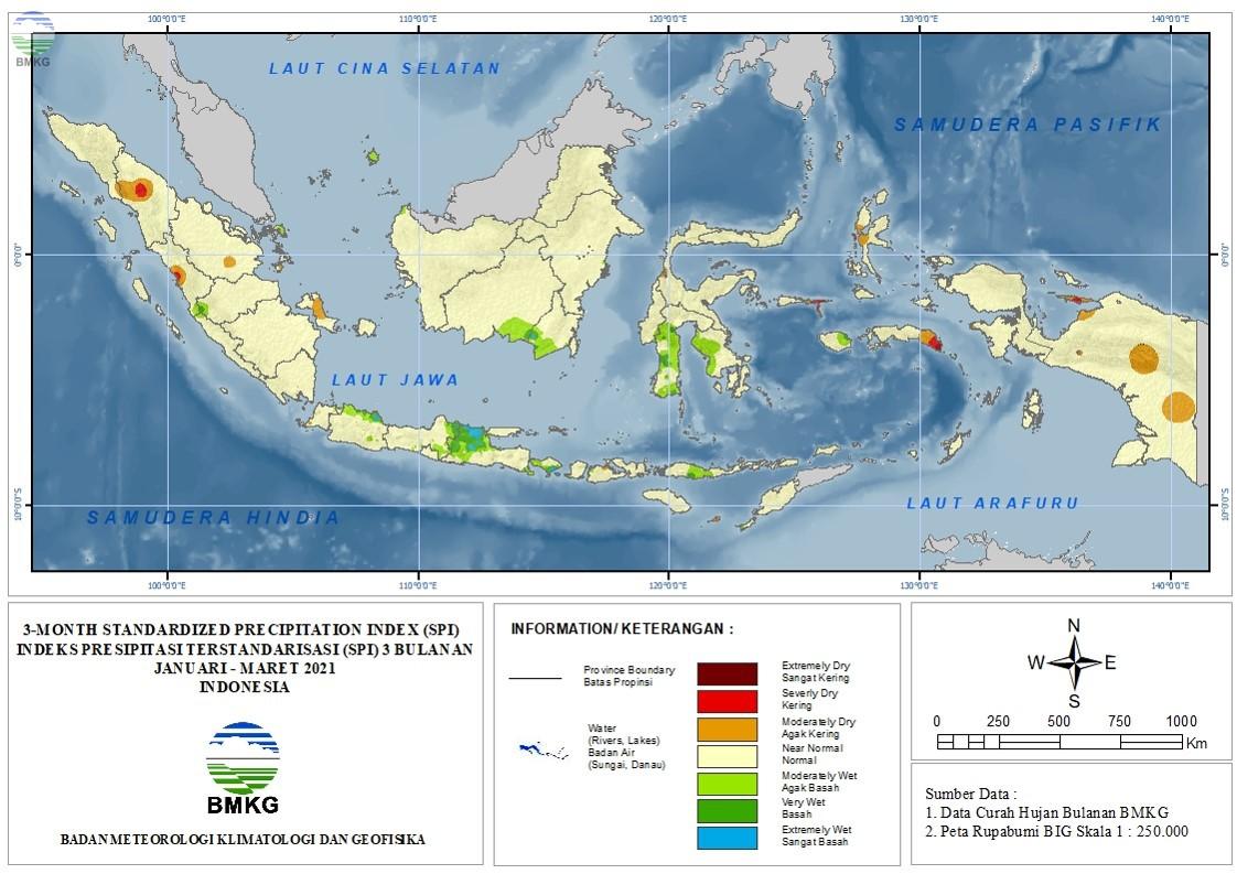 The Standardized Precipitation Index April 2021