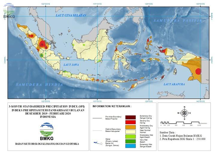 The Standardized Precipitation Index Maret 2020