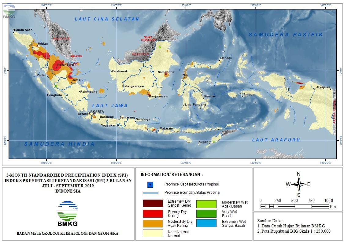 The Standardized Precipitation Index September 2019