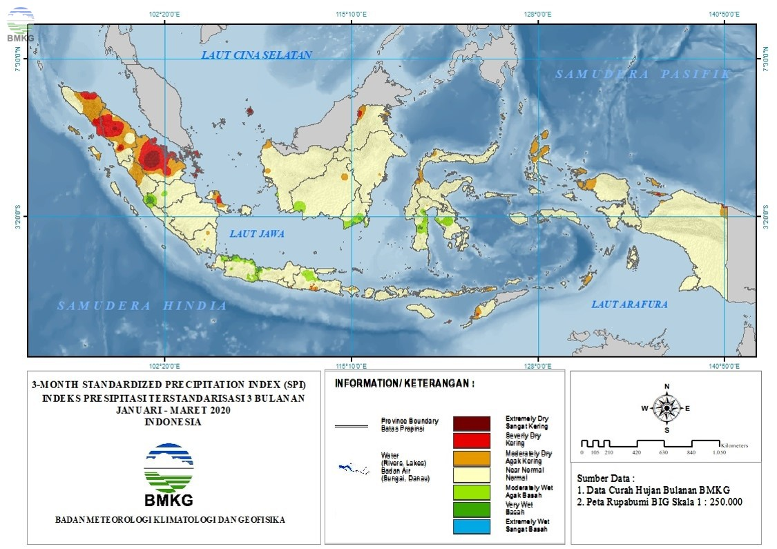 The Standardized Precipitation Index April 2020