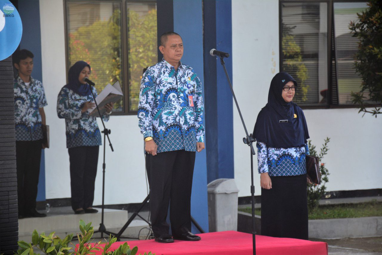 Upacara Peringatan HMD Ke-68 di BMKG Juanda Surabaya