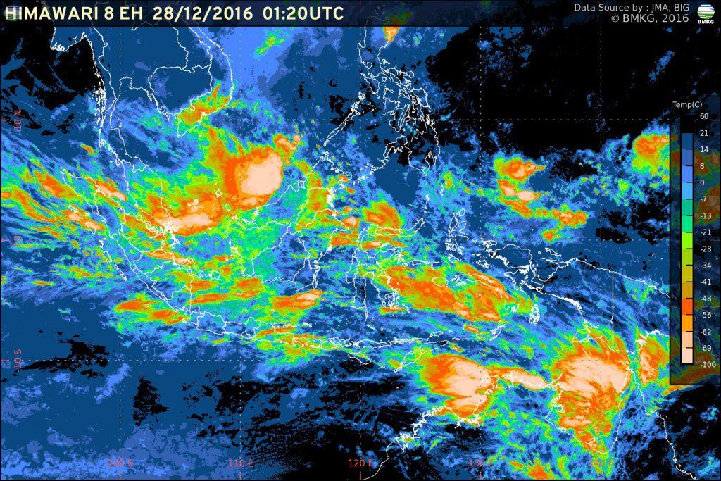 Peningkatan Potensi Hujan Lebat di Wilayah Indonesia 28 Desember 2016 - 02 Januari 2017