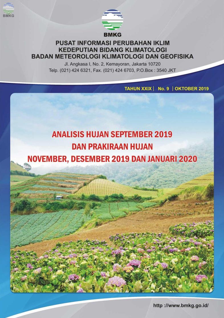 Buletin Hujan Bulanan di Indonesia - Updated Oktober 2019