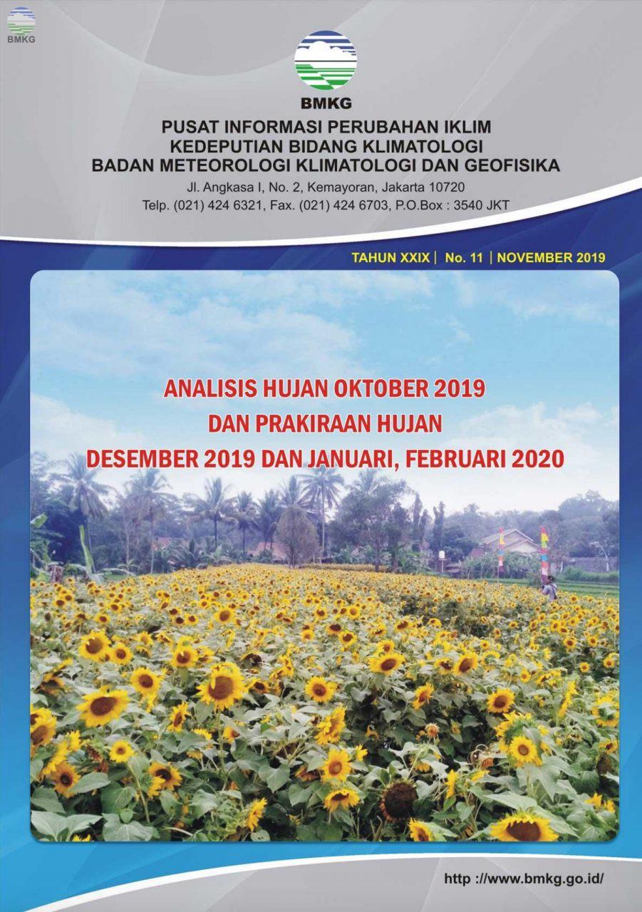 Buletin Hujan Bulanan di Indonesia - Updated November 2019