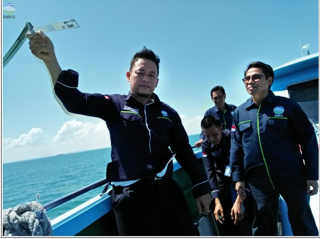 Kegiatan Fam Voyage Stasiun Meteorologi Maritim Perak Surabaya Tahun 2019 dengan Rute Gresik - Bawean