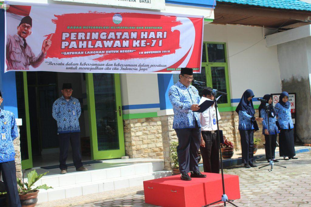 UPT BMKG Sumatera Barat Peringati Hari Pahlawan