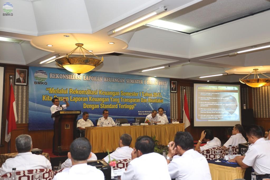 Balai Besar MKG Wilayah II Ciputat Gelar Rekonsiliasi Laporan Keuangan Semester I Tahun 2017
