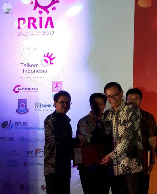 BMKG Sebagai Pemenang Utama PRIA AWARDS