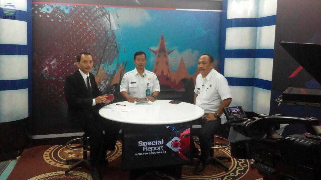 Stamet Raden Inten 2 Menjadi Narasumber Di i-News TV Lampung
