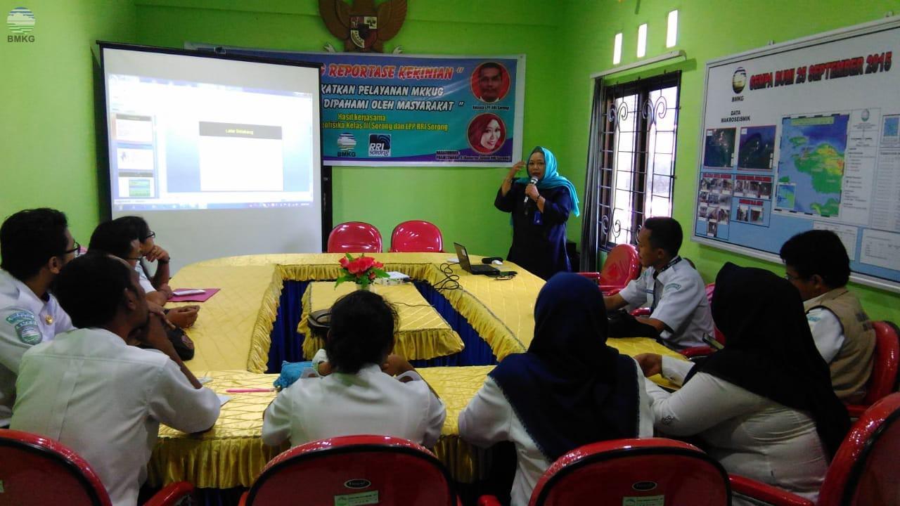 Stasiun Geofisika Sorong Adakan Training Reportase Kekinian