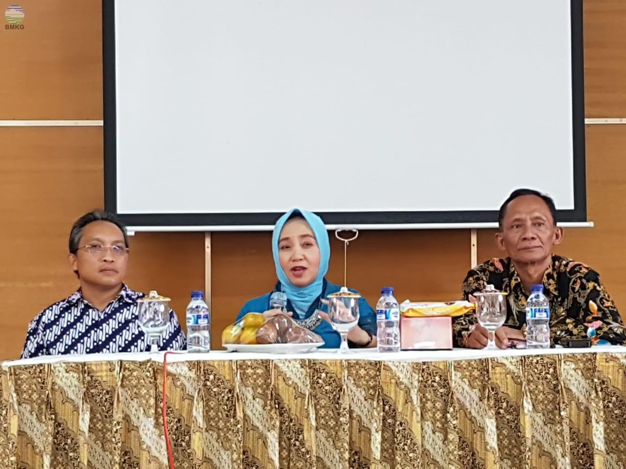 Audiensi Kepala BMKG dengan Stageof Yogyakarta