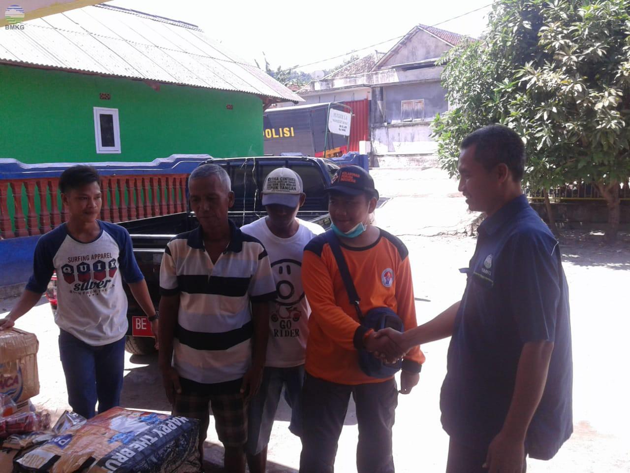 Stamet BMKG Lampung Ikut Peduli Korban Tsunami Selat Sunda