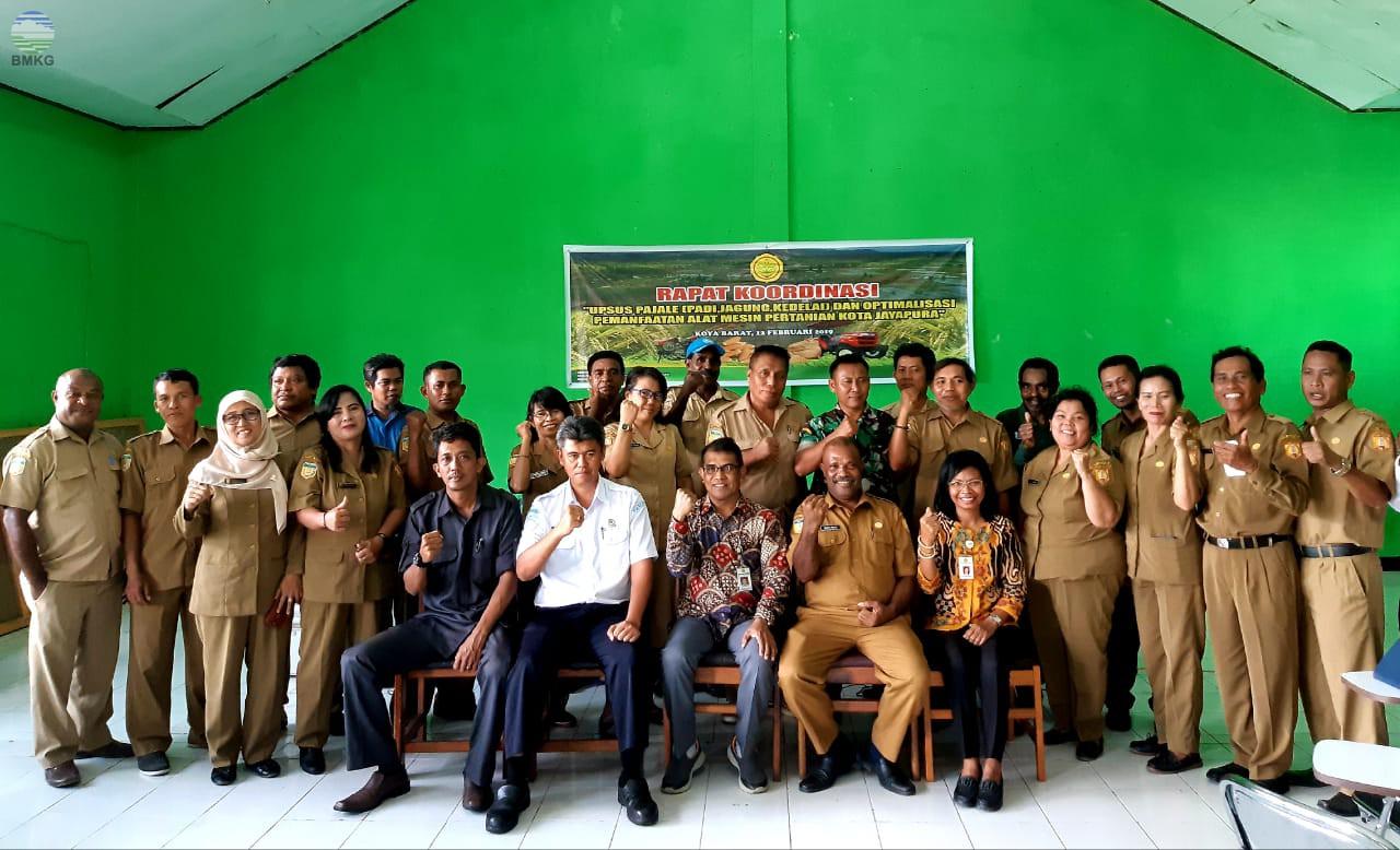 Rapat Koordinasi UPSUS PAJALE dan Optimalisasi Pemanfaatan Alsintan Kota Jayapura