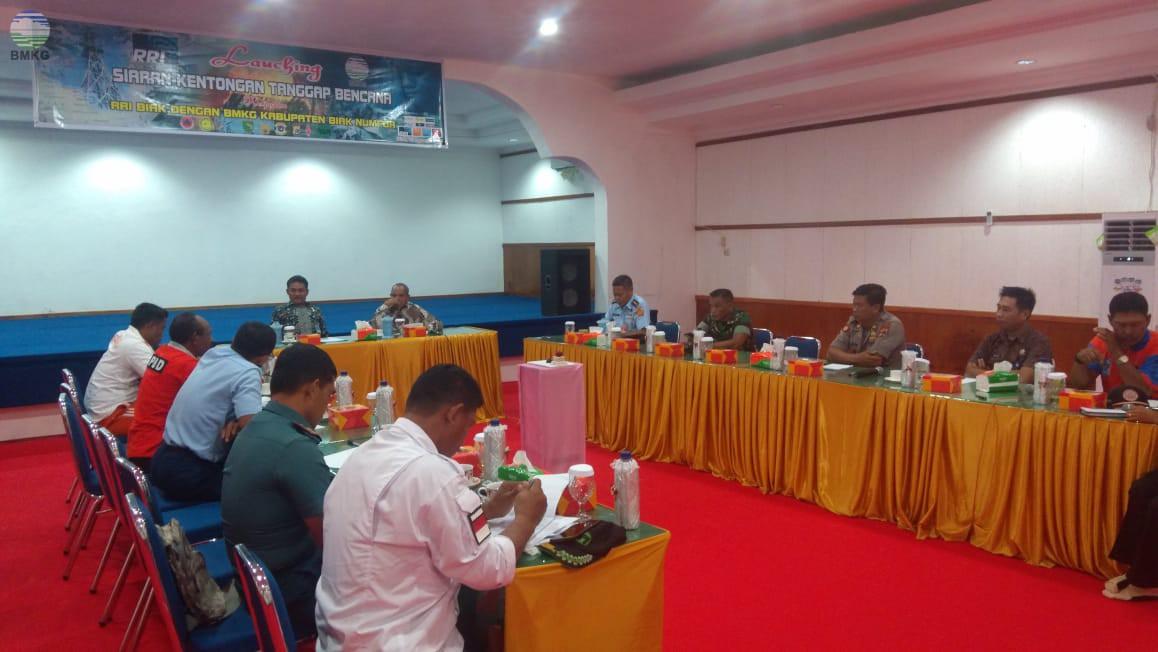 Launching Program Siaran Kentongan Tanggap Bencana di Wilayah Kabupaten Biak Numfor
